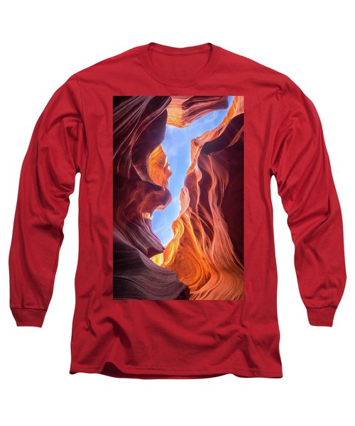 Antelope Canyon Long Sleeve T-Shirt by Serge Skiba