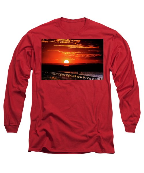 Antelope Island Marina Sunset Long Sleeve T-Shirt