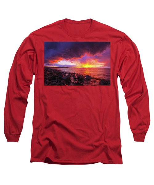 Antelope Island Sunset Long Sleeve T-Shirt
