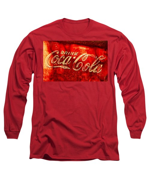 Antique Coca-cola Cooler Long Sleeve T-Shirt