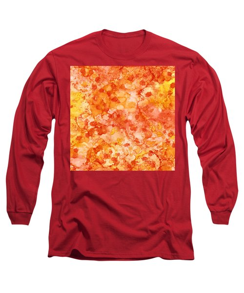 Apricot Delight  Long Sleeve T-Shirt by Patricia Lintner