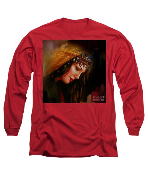 Arabian Woman 043b Long Sleeve T-Shirt