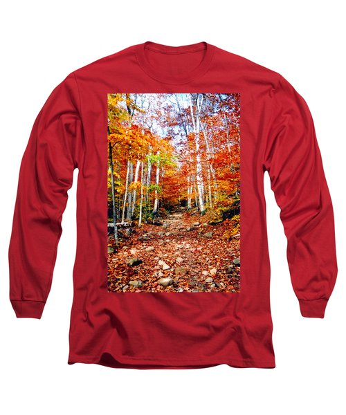 Arethusa Falls Trail Long Sleeve T-Shirt by Greg Fortier