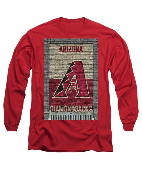 Arizona Diamondbacks Brick Wall Long Sleeve T-Shirt by Joe Hamilton