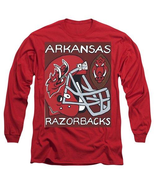 Arkansas Razorbacks Long Sleeve T-Shirt by Jonathon Hansen