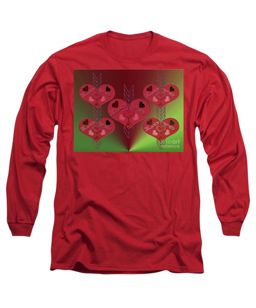Long Sleeve T-Shirt featuring the photograph Arrows Shooting Love Hearts by Rockin Docks Deluxephotos