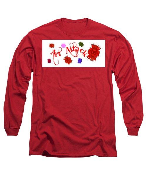 Art Attack  Long Sleeve T-Shirt by Marianne NANA Betts