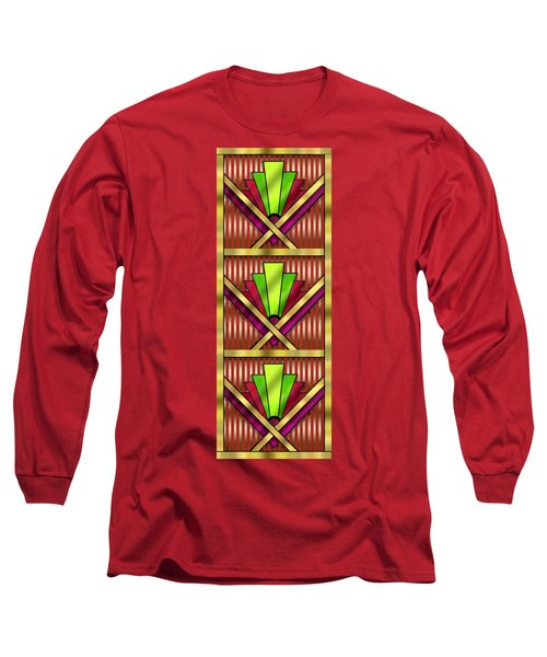 Art Deco 13 Tiles Long Sleeve T-Shirt by Chuck Staley