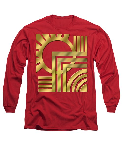 Art Deco 21 Transparent Long Sleeve T-Shirt by Chuck Staley