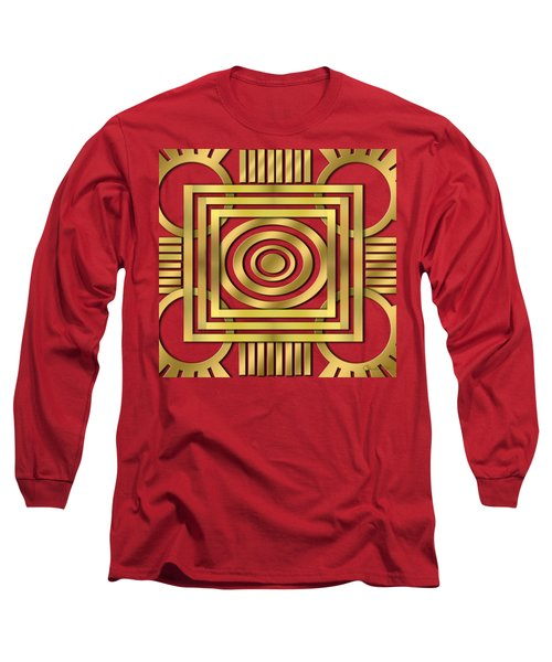 Long Sleeve T-Shirt featuring the digital art Art Deco 20 by Chuck Staley