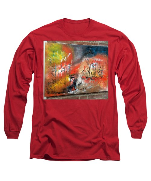 Long Sleeve T-Shirt featuring the painting Art Work by Sheila Mcdonald