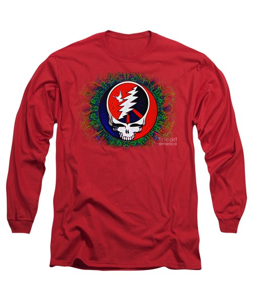 Long Sleeve T-Shirt featuring the painting Grateful Dead by Bill Cannon