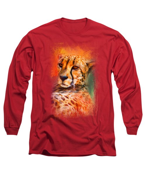 Colorful Expressions Cheetah Long Sleeve T-Shirt by Jai Johnson