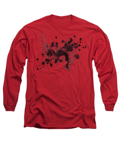 Long Sleeve T-Shirt featuring the painting Splartch by Marc Philippe Joly