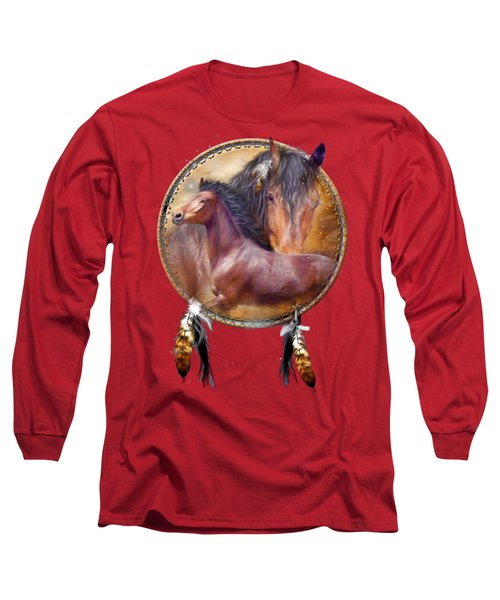 Dream Catcher - Spirit Horse Long Sleeve T-Shirt