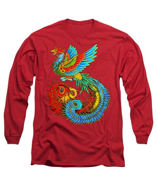 Fenghuang Chinese Phoenix Long Sleeve T-Shirt