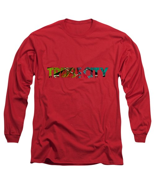 Long Sleeve T-Shirt featuring the painting Tribe Lives by Chief Hachibi