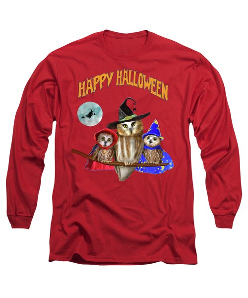 Happy Halloween From Owl Of Us Long Sleeve T-Shirt