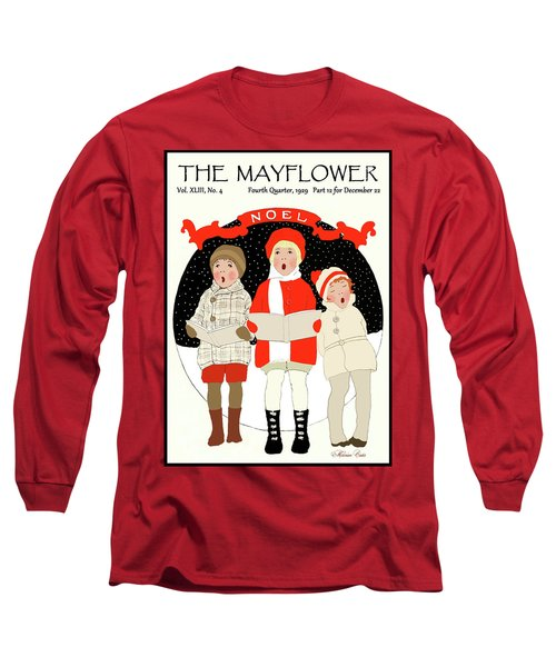 Children Caroling At Christmas Long Sleeve T-Shirt