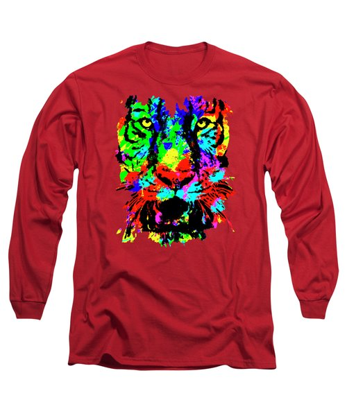 Colored Tiger Long Sleeve T-Shirt