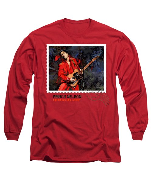 Prince Nelson With Guitar  Long Sleeve T-Shirt