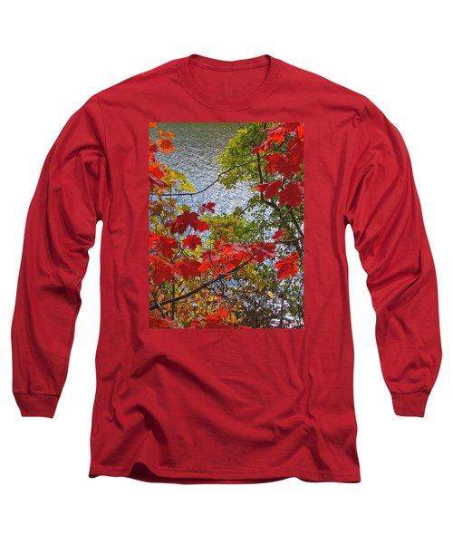 Autumn Lake Long Sleeve T-Shirt by Ann Horn