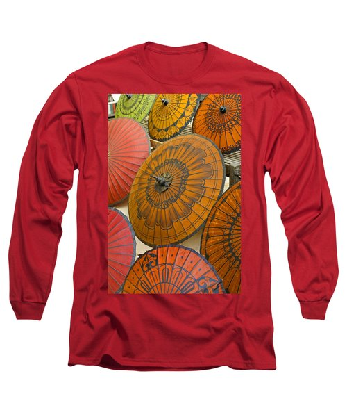 Asian Umbrellas Long Sleeve T-Shirt