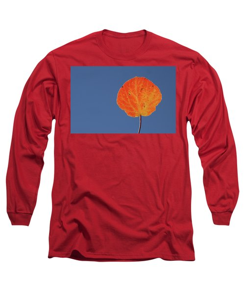 Long Sleeve T-Shirt featuring the photograph Aspen Leaf 1 by Marie Leslie