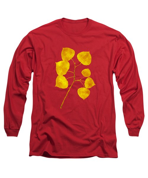 Aspen Tree Leaf Art Long Sleeve T-Shirt