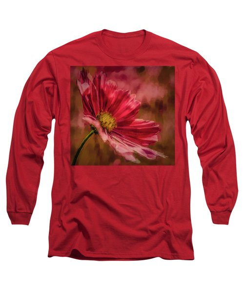 Aster Red Painterly #h1 Long Sleeve T-Shirt