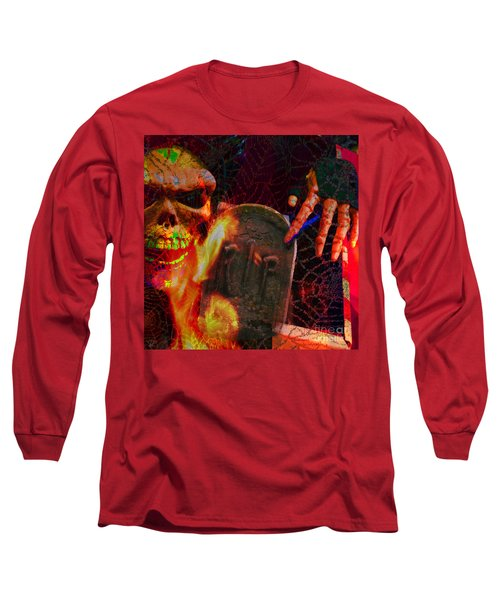 At Night In The Graveyard Long Sleeve T-Shirt
