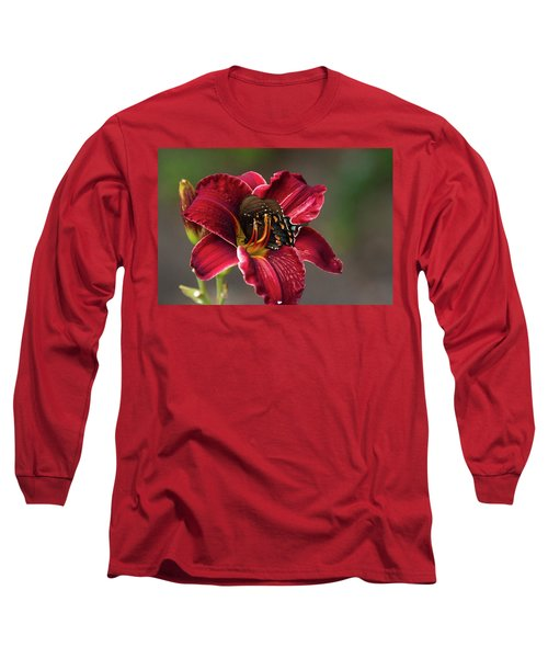 At One With The Orchid Long Sleeve T-Shirt