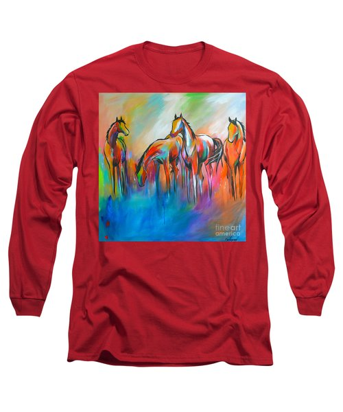 At The Pond Long Sleeve T-Shirt by Cher Devereaux