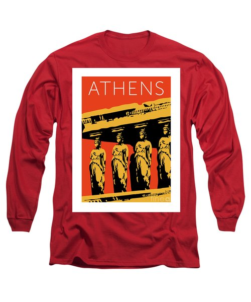 Athens Erechtheum Orange Long Sleeve T-Shirt