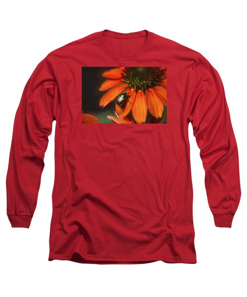 Long Sleeve T-Shirt featuring the photograph Attraction To Red by John Rivera