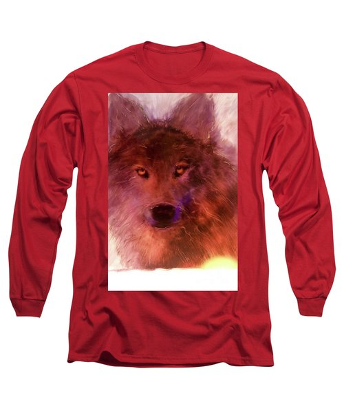 Long Sleeve T-Shirt featuring the painting Aurora Rising by FeatherStone Studio Julie A Miller