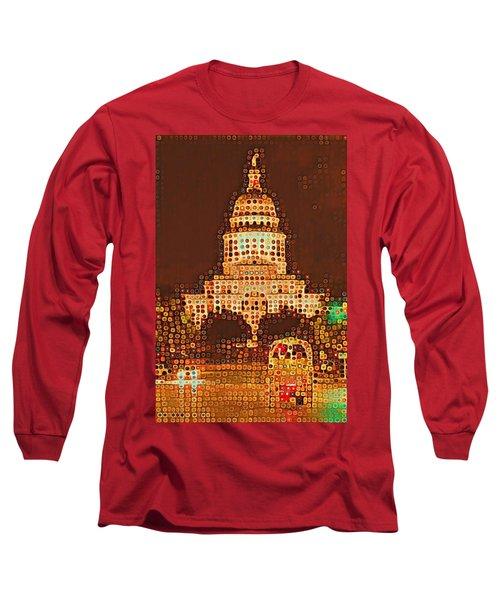 Austin Capitol At Night Long Sleeve T-Shirt
