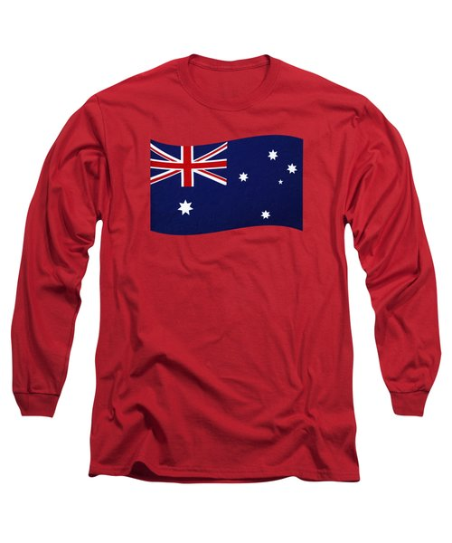 Australian Flag Waving Png By Kaye Menner Long Sleeve T-Shirt
