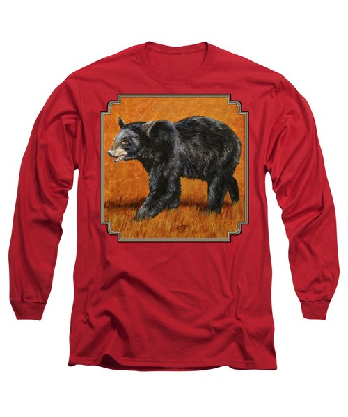 Autumn Black Bear Long Sleeve T-Shirt by Crista Forest