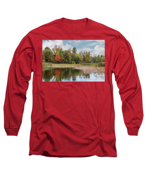 Autumn Blue Heron Long Sleeve T-Shirt
