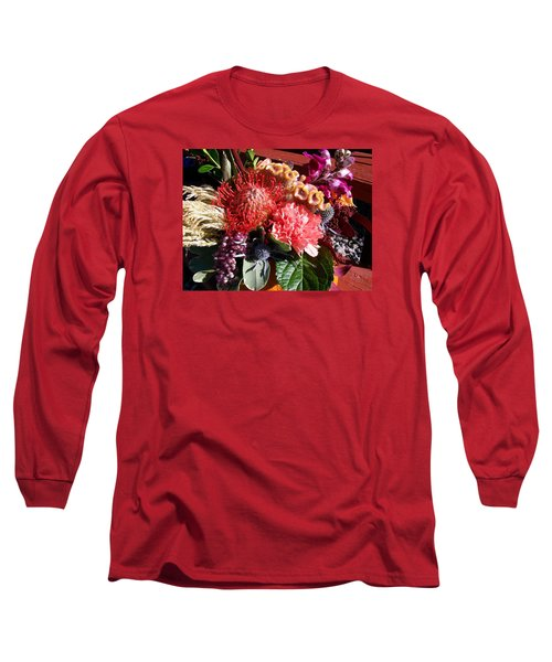 Autumn Bouquet Long Sleeve T-Shirt by Sharon Duguay