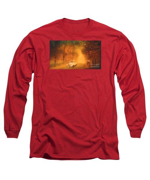 Autumn Evening Long Sleeve T-Shirt by Jim  Hatch