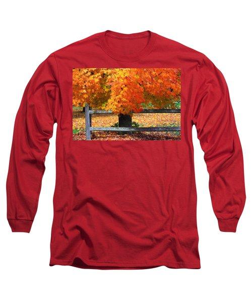 Autumn Fence Long Sleeve T-Shirt