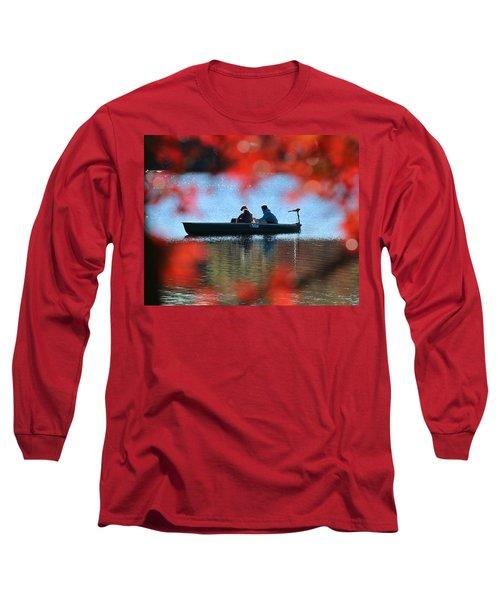 Autumn Fishing Smithtown New York Long Sleeve T-Shirt by Bob Savage