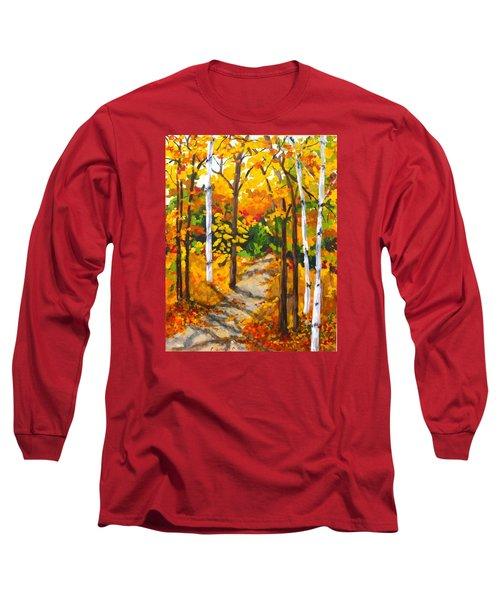 Autumn Forest Trail Long Sleeve T-Shirt