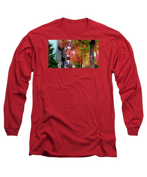 Autumn In Fairhaven Long Sleeve T-Shirt by Karen Molenaar Terrell