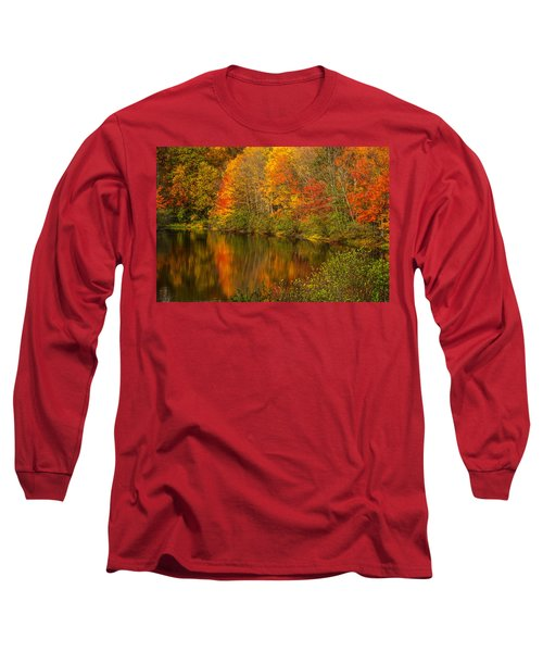 Autumn In Monroe Long Sleeve T-Shirt by Karol Livote