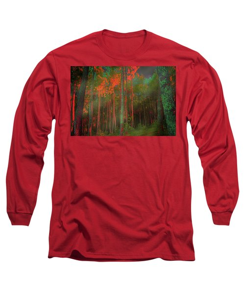 Long Sleeve T-Shirt featuring the photograph Autumn In The Magic Forest by Mimulux patricia no No