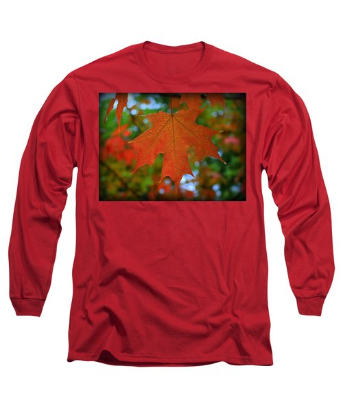 Autumn Leaf In The Rain Long Sleeve T-Shirt
