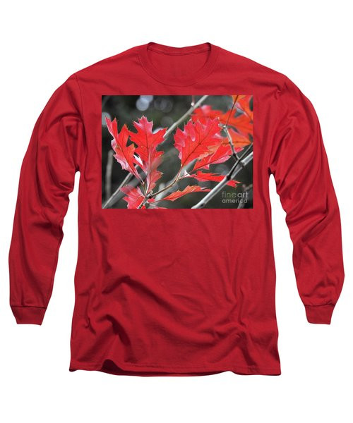 Long Sleeve T-Shirt featuring the photograph Autumn Leaves by Peggy Hughes